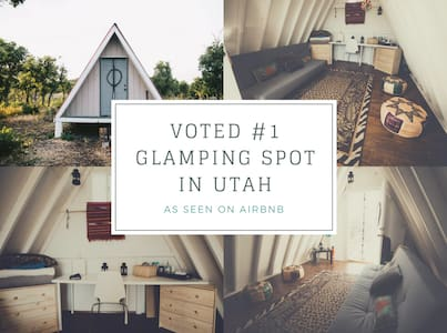 Hudson's Tiny A-Frame Shed Best Utah Glamping Spot