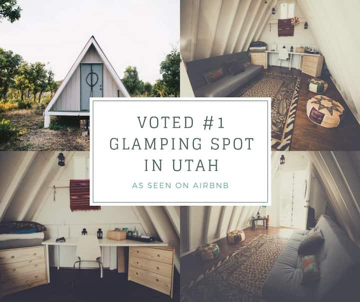Hudson's Tiny A-Frame Shed Best Utah Glamping Spot
