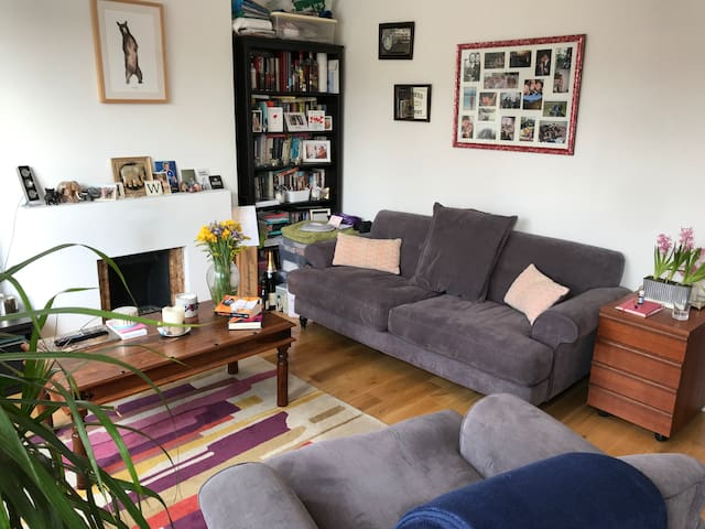 Spacious and bright flat in Hackney.