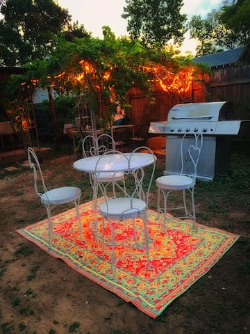 There should be plenty of chairs in the yard. Laugh and dance and love your life!