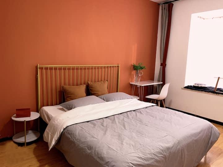 安阳迎宾馆附近3室一厅INS风格出差全家游民宿