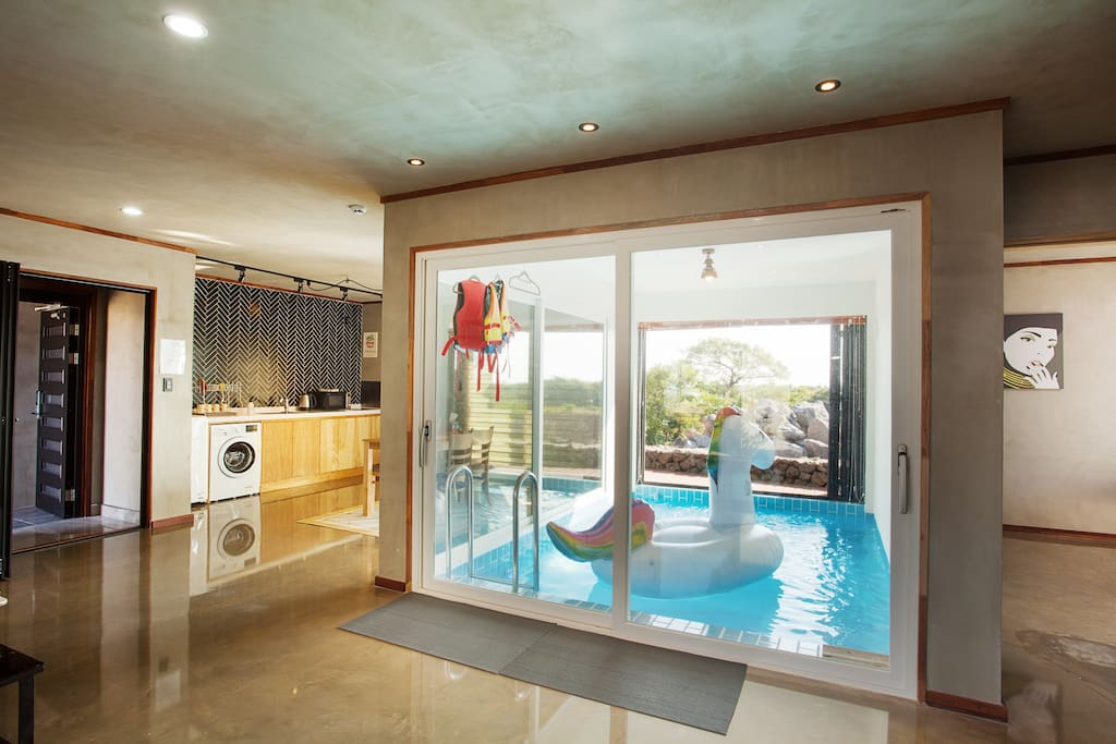 Private Entire House With Indoor Swimming Pool Villas For Rent In Andeok Myeon Seogwipo Si