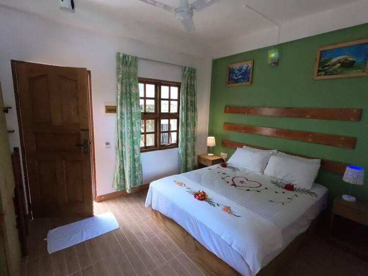 Deluxe room with free breakfast  Ground floor .