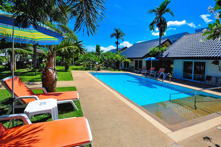 Pool view room include free airport transfers
