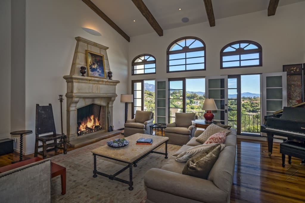 Step into the living room, open your French doors, head onto the balcony, and take in the ocean breeze and views.