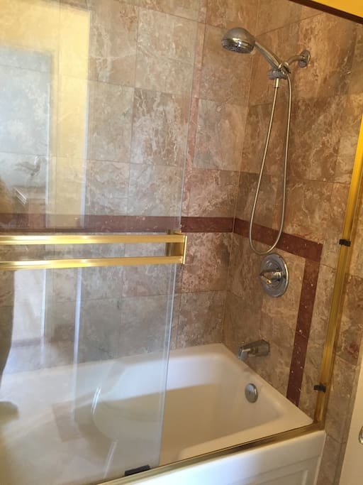 Your own Clean, deep tub and shower