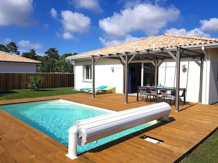 Bassin d'Arcachon maison 3 chambres avec piscine
