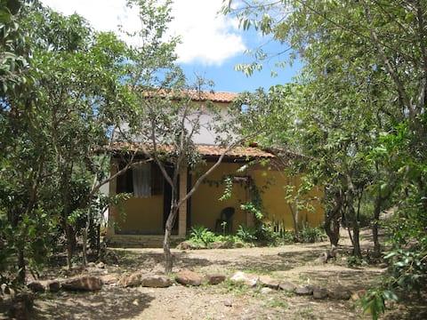 Casa Pequi na RPPN Caraívas
