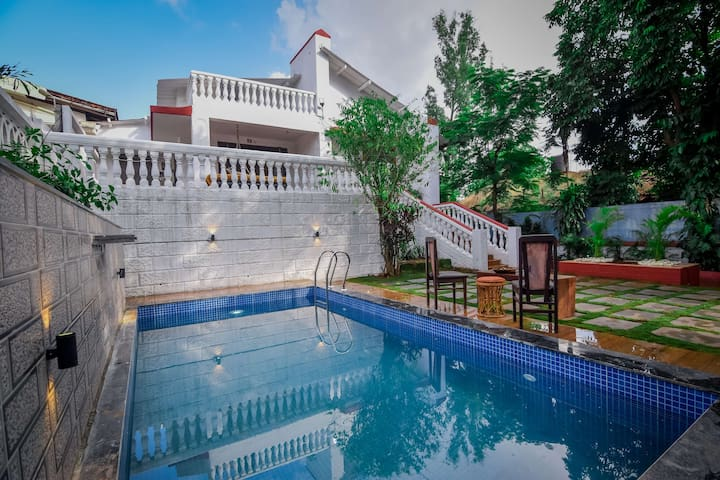 EKOSTAY | 3BHK Villa with Pvt Pool & Volley Ball