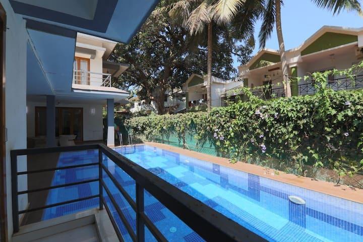 3 BHK Private pool villa 3 mins to Calangute beach