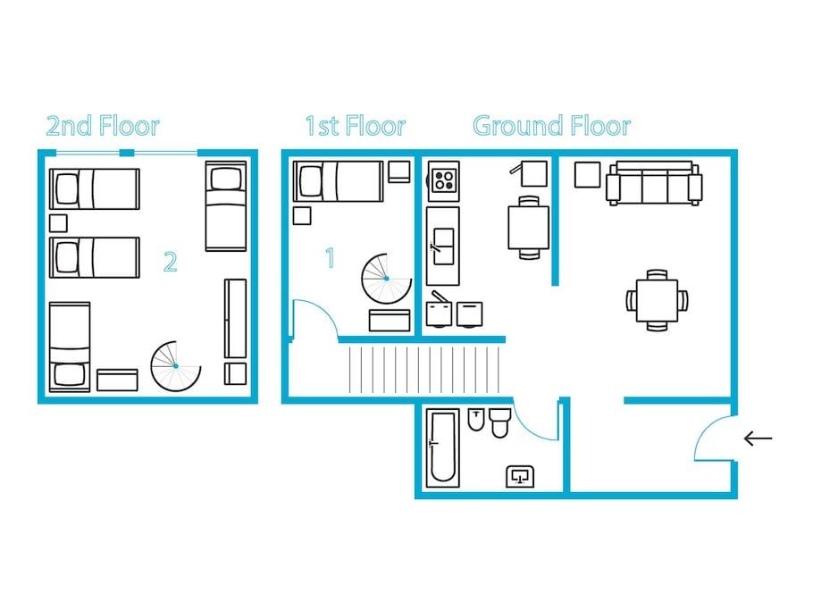 Triplex plan of Writer's House