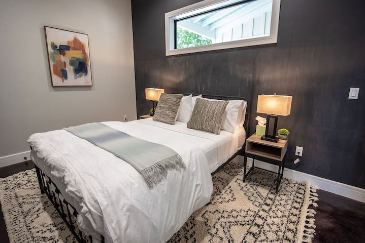Each private bedroom offers a cozy memory foam queen mattress.