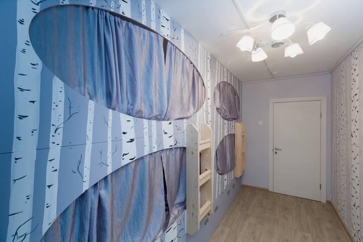"""Malinka hostel"" Bed in a quadruple (4 bed) room"