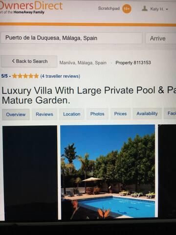 Luxury Private Villa with Pool - Manilva - Casa