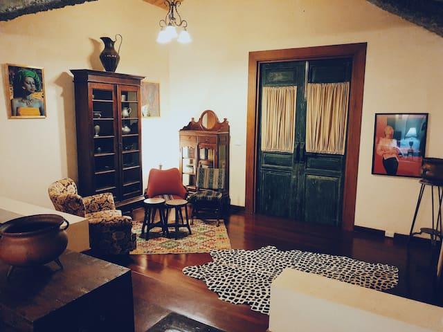 El Pablo bedroom living area.