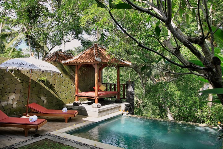 Peacefull Private Pool Villa with Valley View - Tampaksiring - Villa