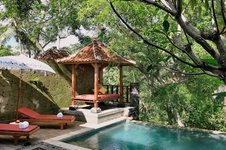 Peacefull Private Pool Villa with Valley View - Tampaksiring