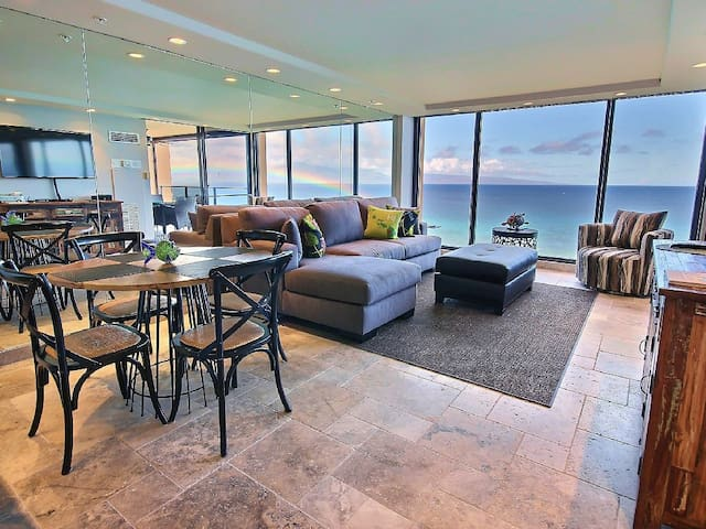 """Love Life at the Mahana, Direct Oceanfront Condo! Completely Remodeled"""