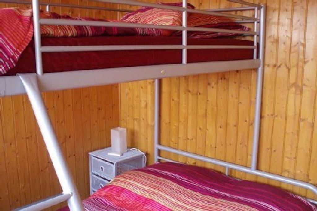 3 couchages à l'étage, 2 au rez de chaussée