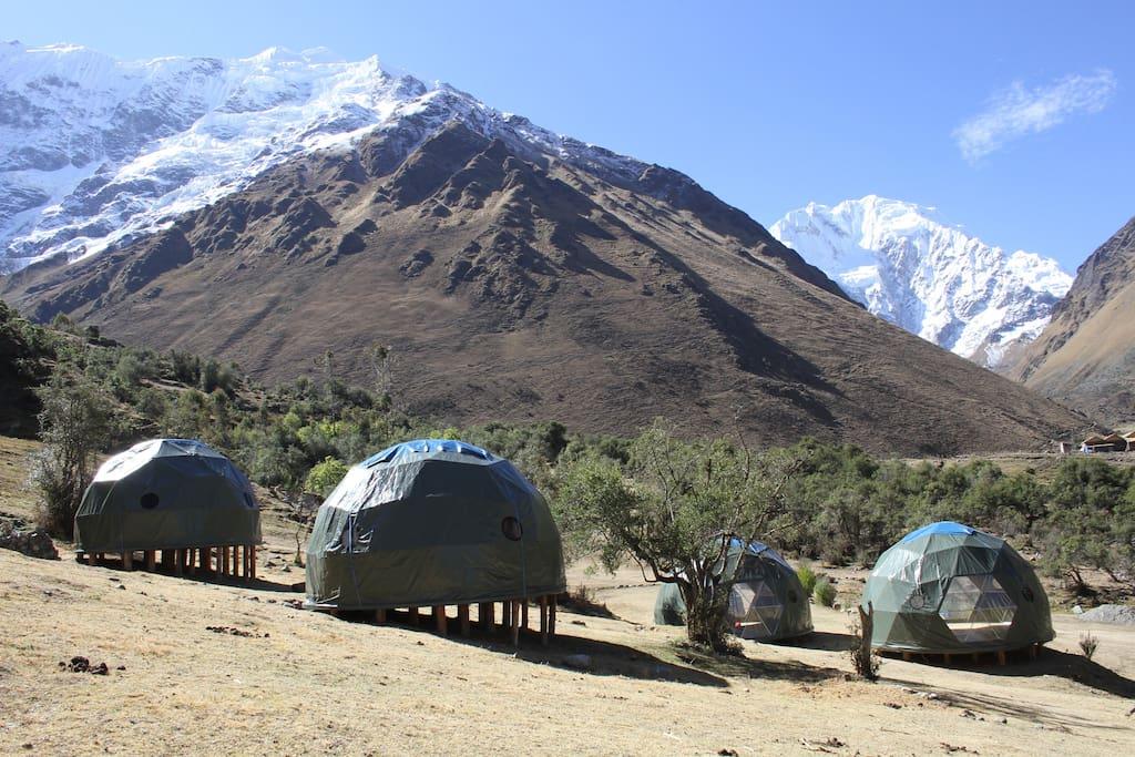 The Ecodomes at Soray Ecocamp