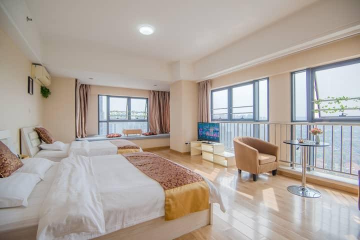 常州新月精品公寓☀阳光观景家庭房☀