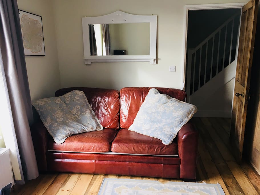 Front room with sofa bed.