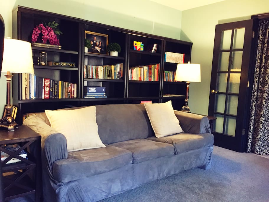 First floor Master bedroom sitting area withTV (queen size bed not shown).