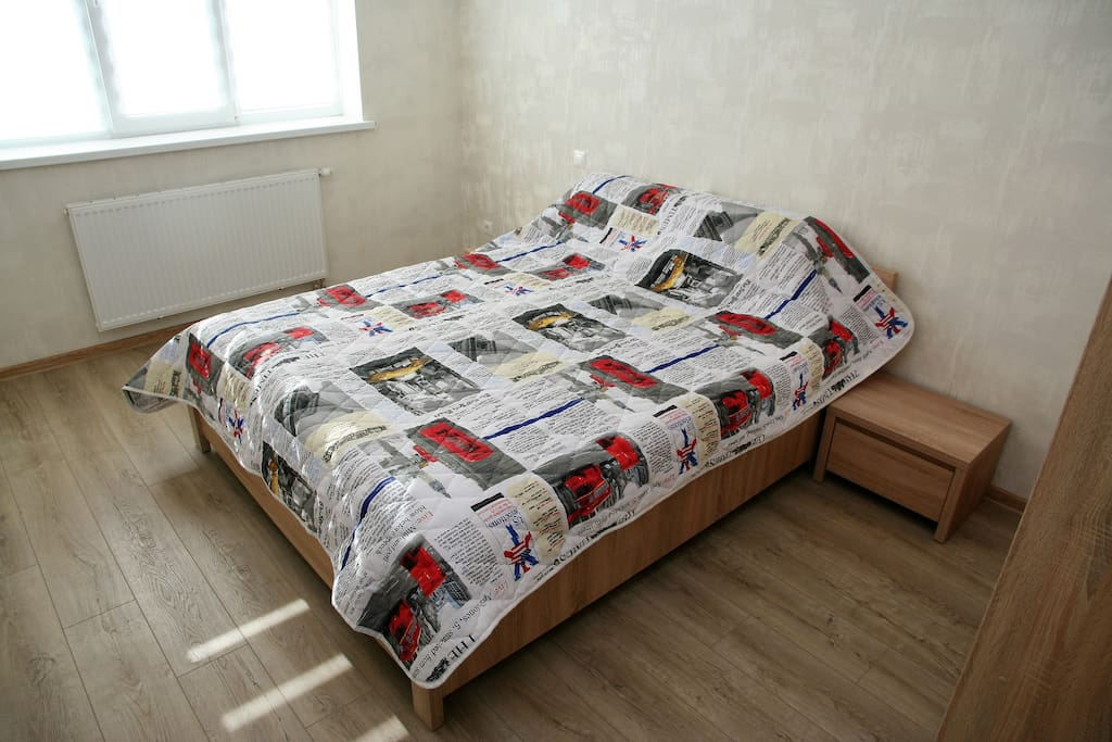 Double bed with nice mattress