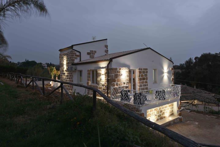 Appartamento 4 posti in villa a 100 m dal mare - Trappeto - Leilighet