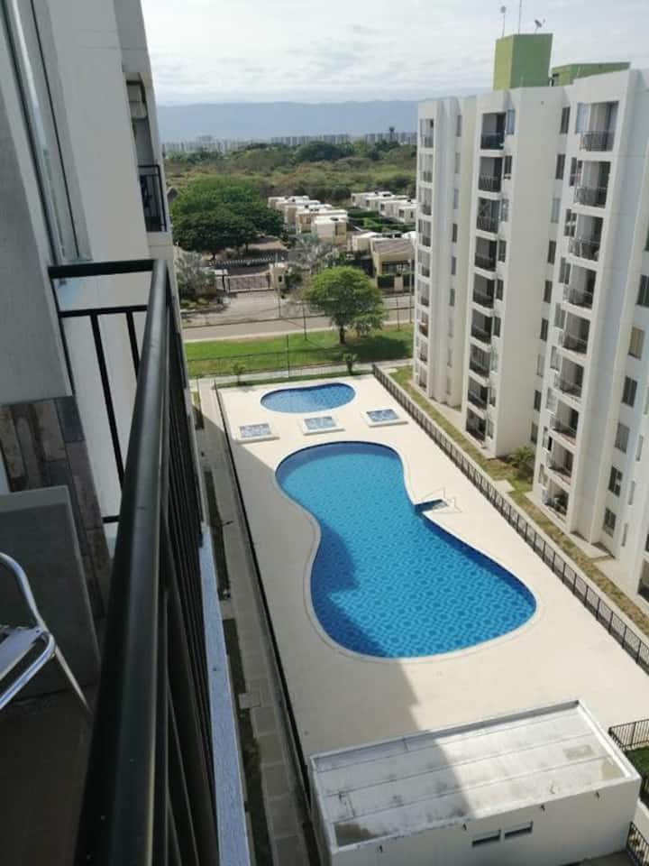 Modern 2/2 APTO RICAURTE With ✔FREE Parking ✔WiFi