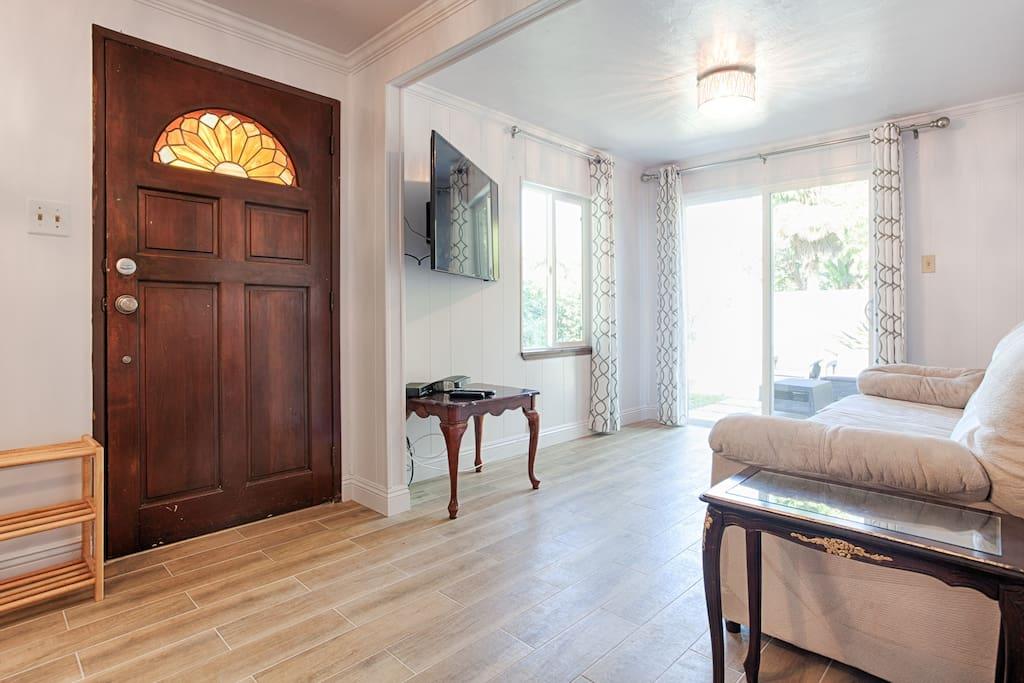 Living Area/ Patio Entrance