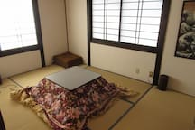Second floor rooms  2階客室 冬はコタツでのんびりしてください。