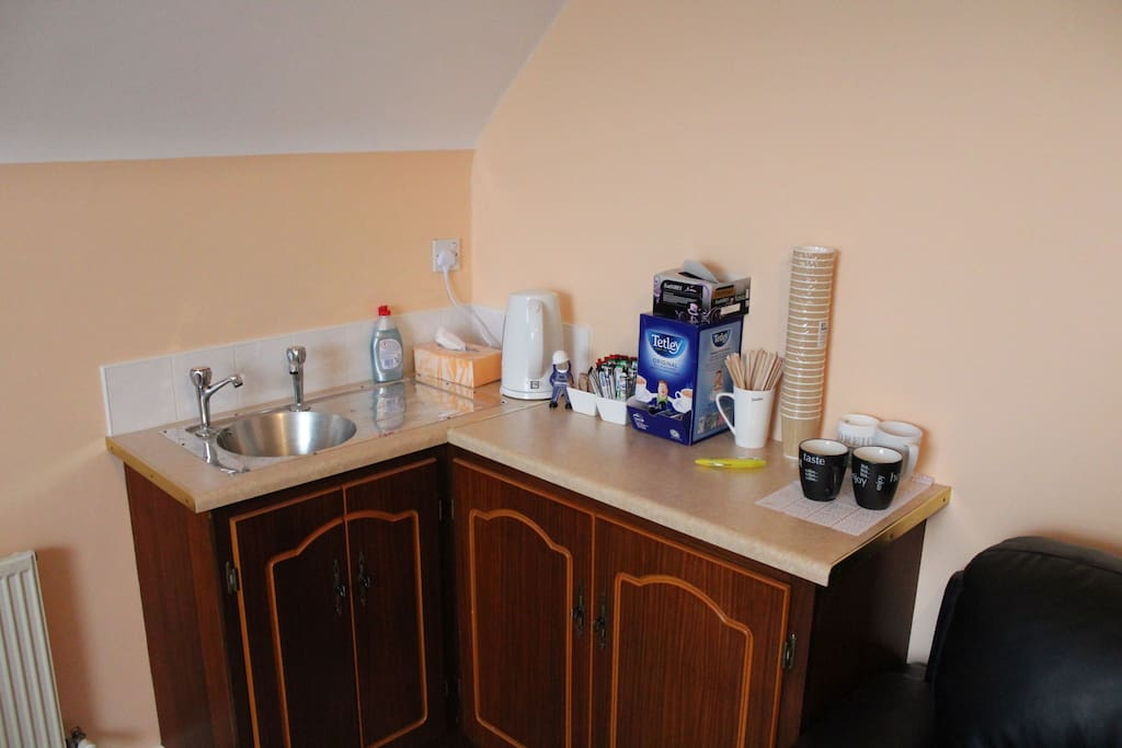 Coffee making facilities in TV room
