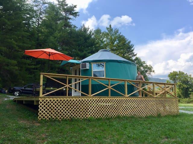 Exotic Glamping-Yurt Style!  Near Lake Lure.
