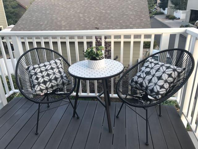 Balcony outdoor seating area