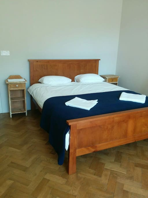 Both rooms have queen-sized beds and fresh linens.
