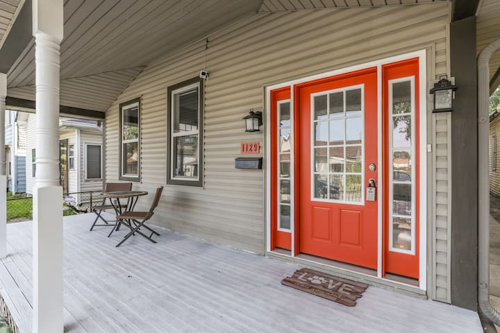 A covered front porch welcomes you!