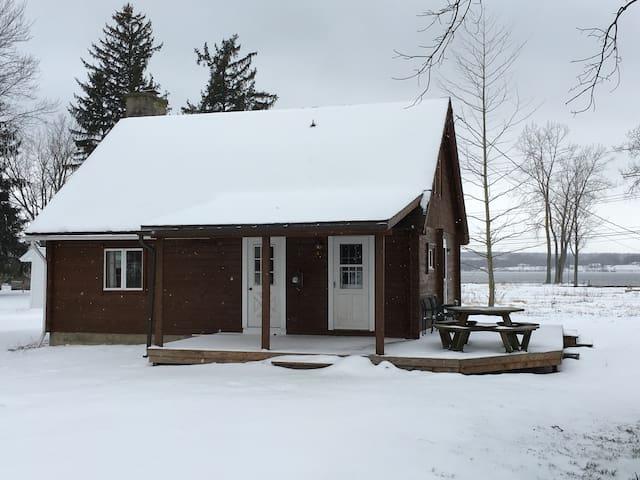 Beautiful, cozy log cabin with Owasco Lake views