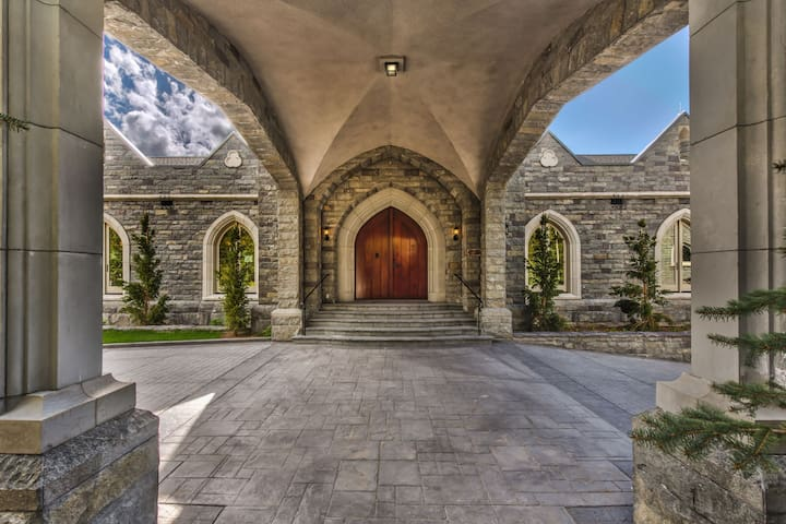Front Entry to the Park City Castle Mansion