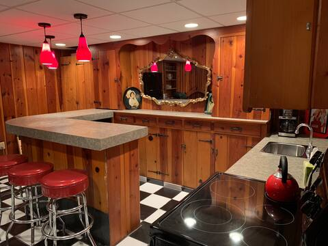 Cozy well kept Breezeway & Lower Level Living Area