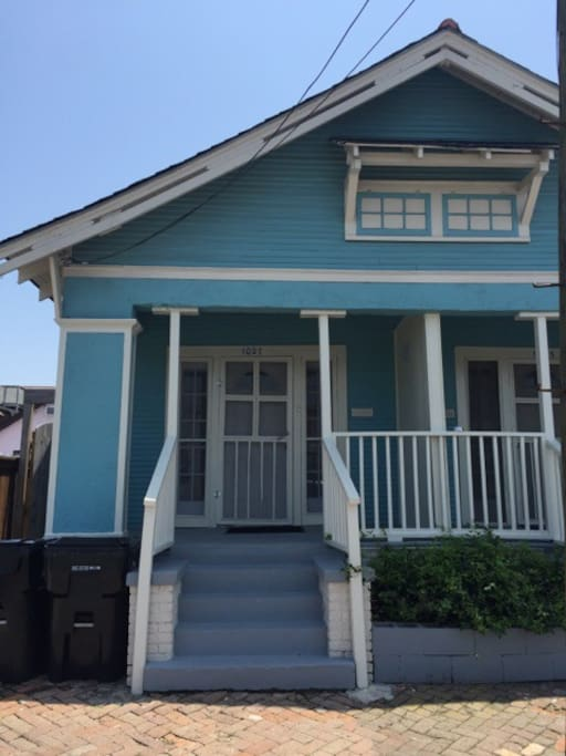 Front of Shotgun style house