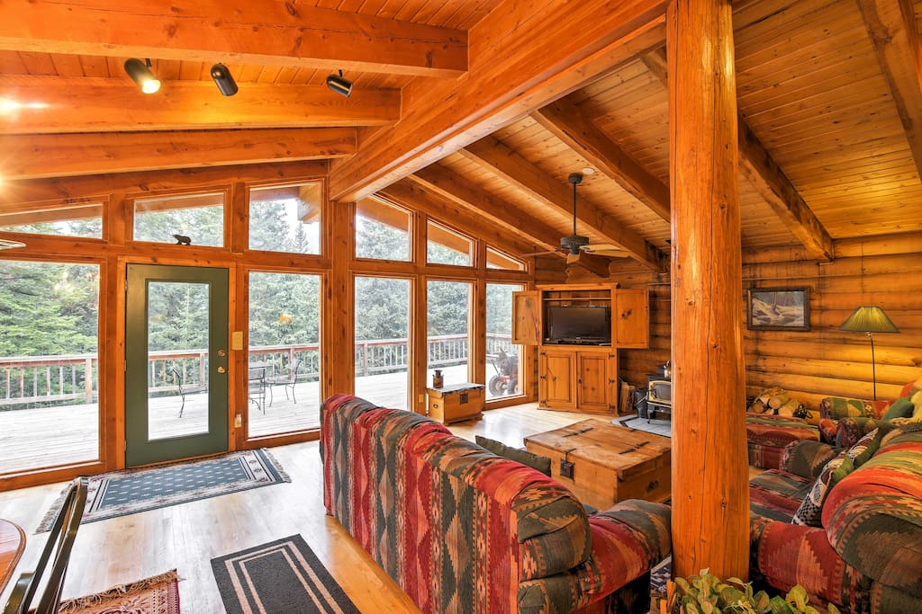 The beautiful lodge boasts 3,000 square feet of well-appointed living space.