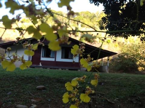 Nature lodge, mountain climate.