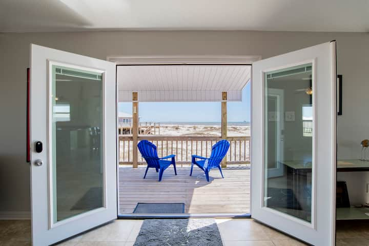New! Gulf Front - 5BR - 2BA - 120 Steps to Beach!