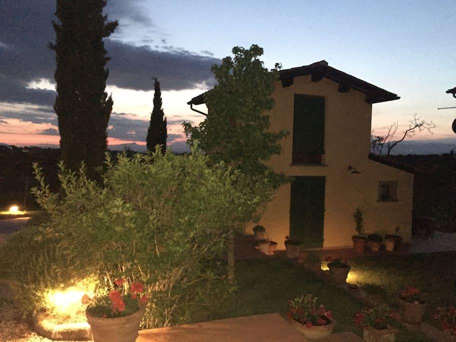 Casa Moricci al tramonto