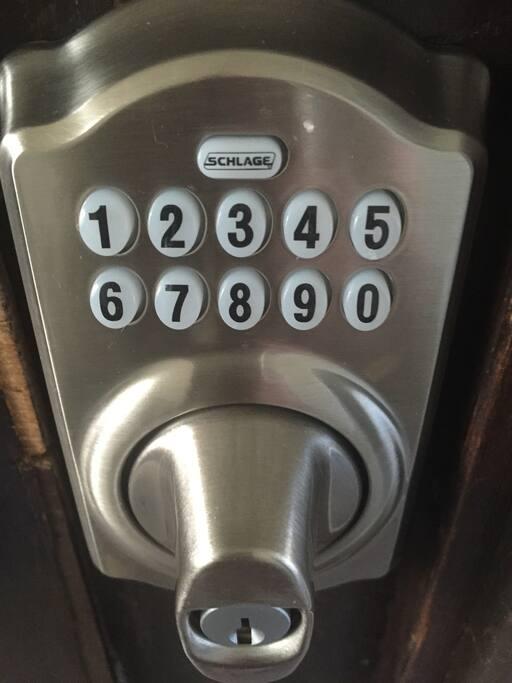 No keys! Come & go, anytime!