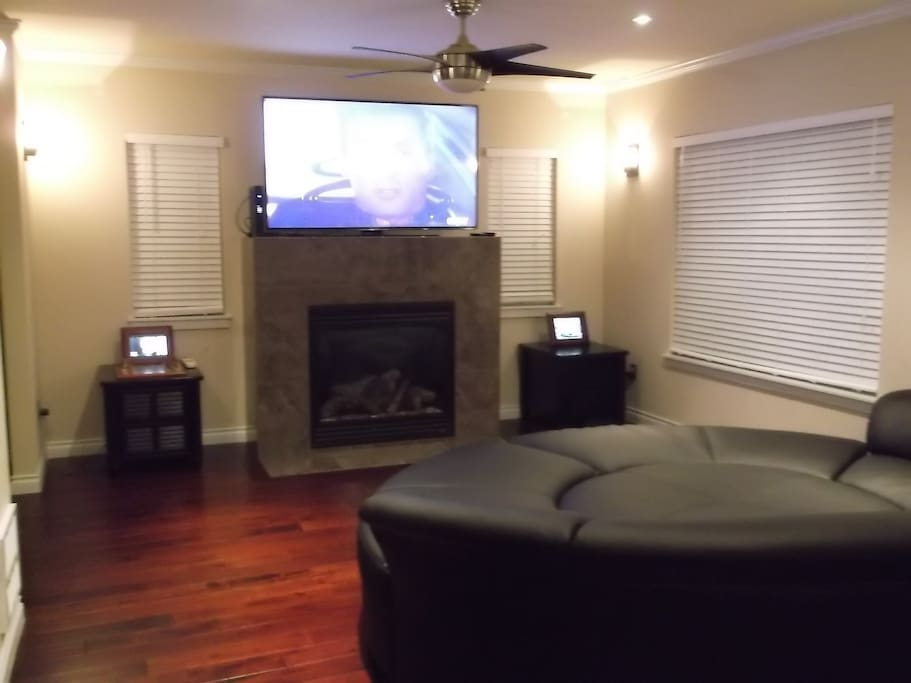great living room with fireplace