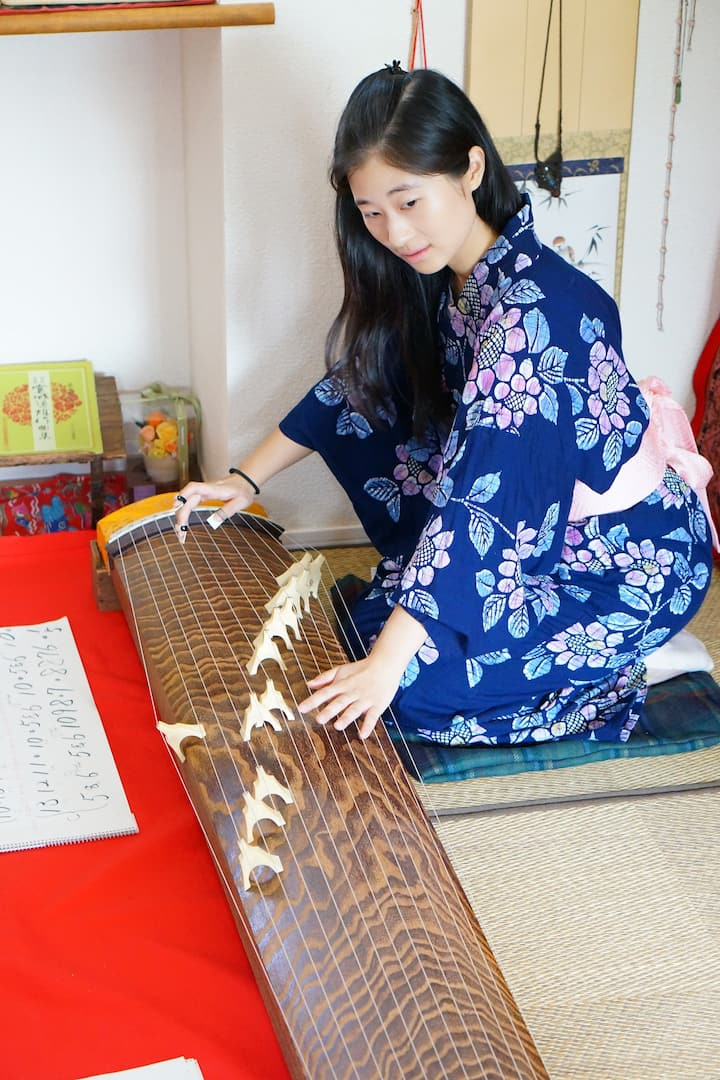Let's try Japanese harp KOTO.