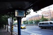 후문앞 버스정류장