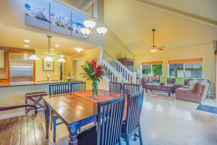 Luxury Poipu 4br Villa with AC Walk to the Beach! (224)